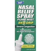 Nasal Relief Spray,pump Mist,anti-drip, Severe Congestion, ( Oxymetazoline Hci ) 12 Hour, 3 Pack.