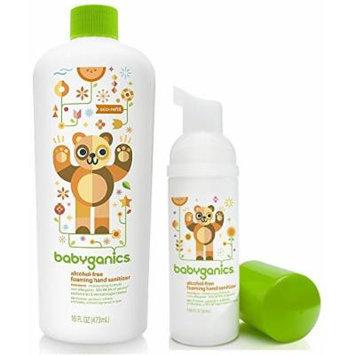 Babyganics Foaming Hand Sanitizer for On-The-Go with 16 Ounce Refill Bottle, Tangerine