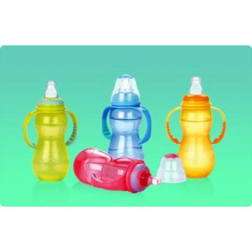 1 NEW Nuby 3 Stage Non-drip Baby Infant Bottle 11 Oz.