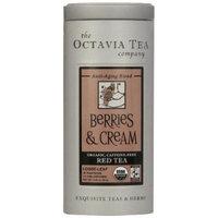 Octavia Tea Berries And Cream Caffeine-Free Red Tea/Rooibos, Loose Tea, 2.12-Ounce Tins (Pack of 2)