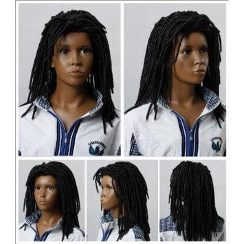 (WG-BC06-4)Long Wave Africa Children Wig,Black color.