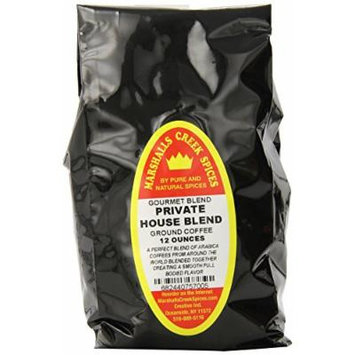 Marshalls Creek Spices Gourmet Ground Coffee, Private House Blend, 12 Ounce