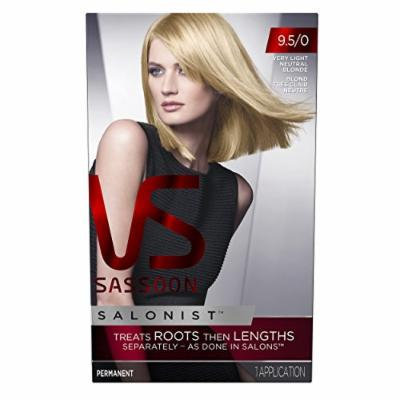 Vidal Sassoon Salonist Hair Colour Permanent Color Kit, 9.5/0 Very Light Neutral Blonde