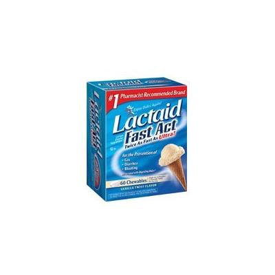 LACTAID TABS FAST ACT CHEWS 60 EA (PACK OF 2)