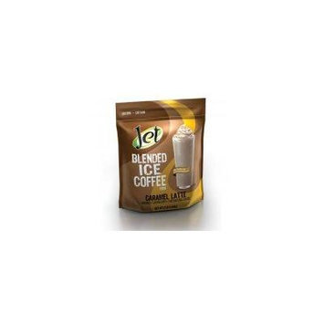 Jet Caramel Latte Blended Ice Coffee (1-3-Pound Bag Of Blended Ice Coffee Mix) Frappes