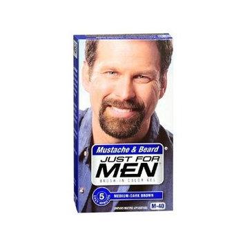 Just For Men Mustache & Beard Medium-Dark Brown M-40 Brush-In Color Gel