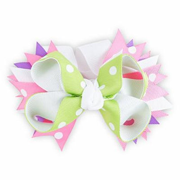 Purple, Pink & Green Childs Hair Clip