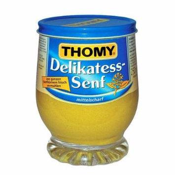Thomy Delikatess Senf (Medium Mustard in Jar) -Pack of 4 X 250 ml