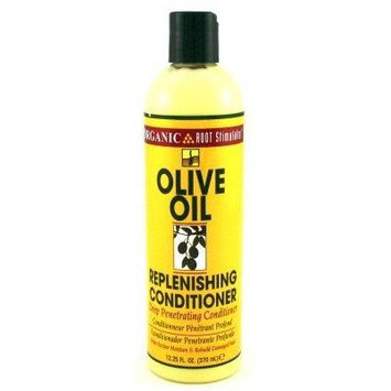 Organic Root Stimulator Olive Oil Replenishing Conditioner 12.25 (3-Pack) with Free Nail File