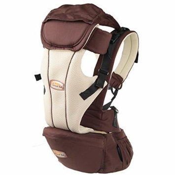 Beddinginn® Safe Comfortable Multi Functional Brown Cotton Baby Carrier with Hips Seat