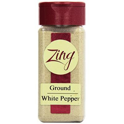 Zing Spices Pepper Ground, White, 2.5 Ounce