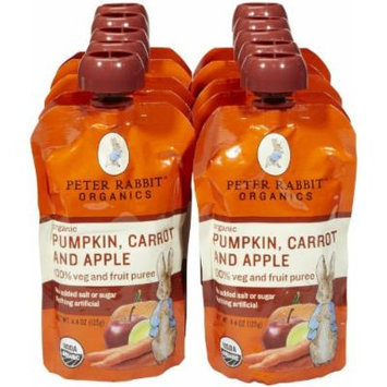 Peter Rabbit Organics Variety of Fruit and Vegatables Baby Food - 10 Pack (Pumpkin & Carrot & Apple)