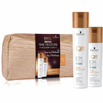 Schwarzkopf BC TIME RESTORE duo with FREE cosmetic bag For mature hair new formula