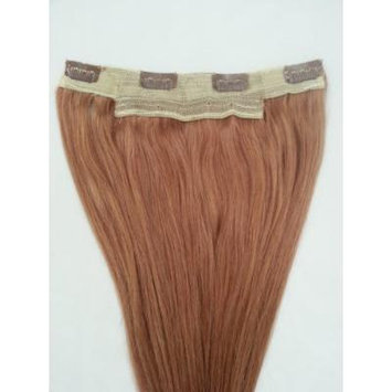 18inches One Long Piece Clip In Human Hair Extensions, 4 clips, #27 Strawberry Blonde