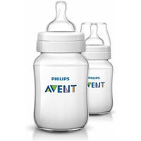 Philips AVENT Classic Plus BPA Free Polypropylene Bottles, 9 Ounce (Pack of 2)