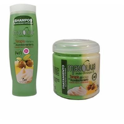 Bundle/combo Boe Mayoliva (Mayolive) Shampoo 12oz and Hair Treatment 16oz