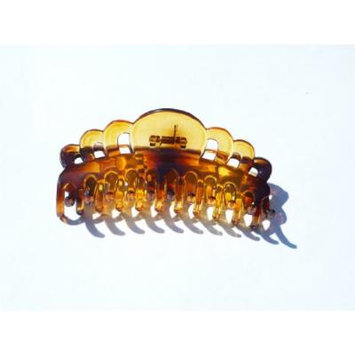 Extra Large Size Claw Clip Updo Ponytail Hair Holder Large Hair Clamps French Roll Hair Clips (Transparent Lucite Tort Brown fancy- THO276) 5