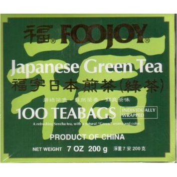 Foojoy Japanese Green Tea, 100 Individually Wrapped Tea Bags