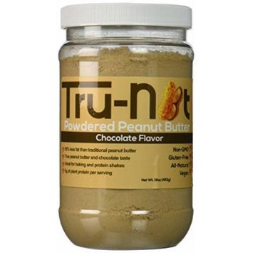 Tru-Nut Powdered Peanut Butter Pouch, Chocolate, 1 Pound