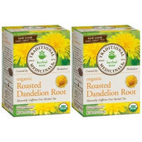 Traditional Medicinals Organic Roasted Dandelion Root Herbal Tea 2-Pack;32 Count.