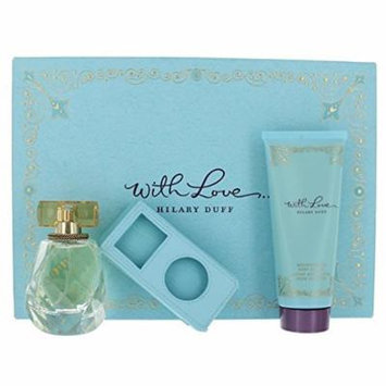 With Love Perfume By Hilary Duff for Women - 3 Piece Gift Set - 1.7 Eau De Parfum Spray, 3.4 Body Lotion, 1 Mp3 Case