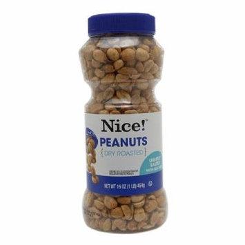 Nice! Dry Roasted Peanuts, Light Salt 16 oz (pack of 2)