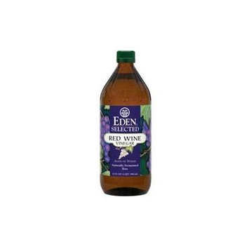 Eden Selected - Red Wine Vinegar - Naturally Fermented Raw (Aged in Wood), Save with TWO Glass Bottles, Each is 32 Oz / 1 Qt / 946 Ml (Pack of 2)