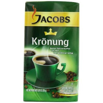 Jacobs Kronung Coffee, 8.81-Ounce Vacuum Packs (Pack of 4)