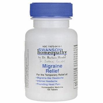 Swanson Migraine Relief 100 Tabs