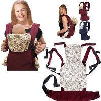 Hot Newborn Kid Adjustable Infant Baby Carrier Sling Wrap Rider Comfort Backpack (Red)