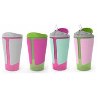 Born Free Grow with Me 10 oz Straw Cup & Spoutless Cup Set, Pink