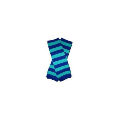 BLUE & GREEN STRIPES - Baby Leggings/Leggies/Leg Warmers for Cloth Diapers - Little Girls & Boys & ONE SIZE by