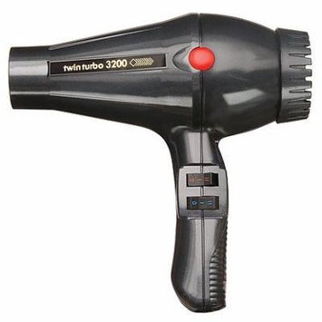 Twin Turbo 3200 Professional Italian Hair Dryer, with 1900 Watt High Performance AC Motor, Extremely Lightweight, with 4 Temperature/2 Speeds Control, and True Cold Shot Button, Features Built-In Anti Overheating Device, with Reinforced Heating Element...