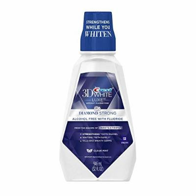 (2 Pack) Crest 3D White Luxe, Anti-cavity Whitening Fluoride Rinse, Clean Mint, 16 oz.ea.