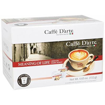 Caffe D'arte Single Serve Coffee, Meaning of Life, 12 count