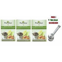 Mighty Leaf Tea , White Orchard ,(with FREE Tea Bag Squeezer) (3 Pack)