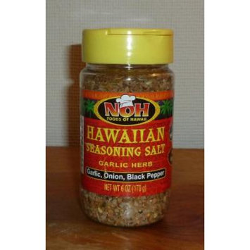 NOH Hawaiian Sea Salt Seasoning Garlic Herb, 6 OZ (2 Pack)