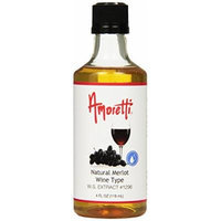 Amoretti Natural Merlot Wine Type Extract, 4 Fluid Ounce