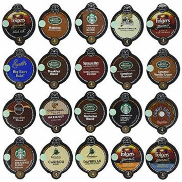 20-count VUE Pack for Keurig VUE Brewers ALL Coffee Variety Pack Featuring Starbucks, Green Mountain, Coffee People, Newman's Original Organic, Gloria Jean's, Folgers, Caribou, Emeril's, Tullys & Van Houtte.