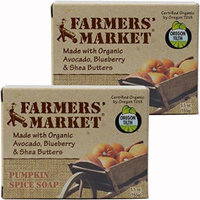 Farmers' Market Organic Moisturizing Soap, Pumpkin Spice, 5.5 Ounce
