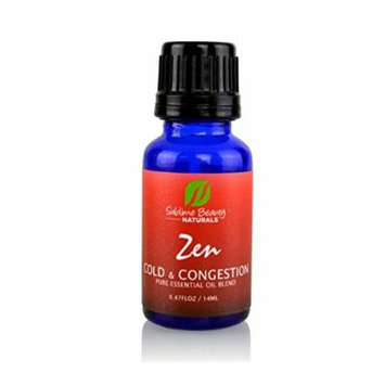 ZEN COLD and CONGESTION ESSENTIAL OIL BLEND. Topical & Aromatherapy Oils to Treat a Cold + Break up Congestion. 100% Moneyback Guarantee from Sublime NATURALS.