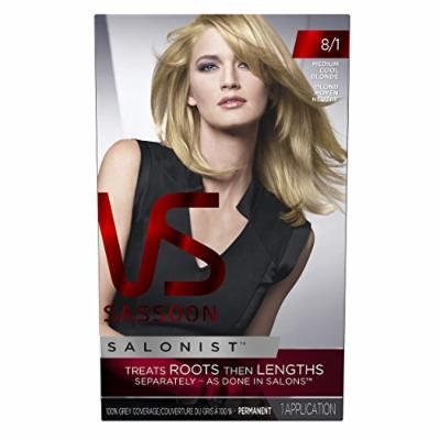Vidal Sassoon Salonist Hair Colour Permanent Color Kit, 8/1 Medium Cool Blonde