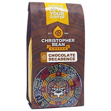 Christopher Bean Coffee Decaffeinated Whole Bean Flavored Coffee, Chocolate Decadence, 12 Ounce