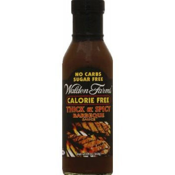 Walden Farms Calorie Free Thick 'n Spicy BBQ Sauce 6x 12 Oz