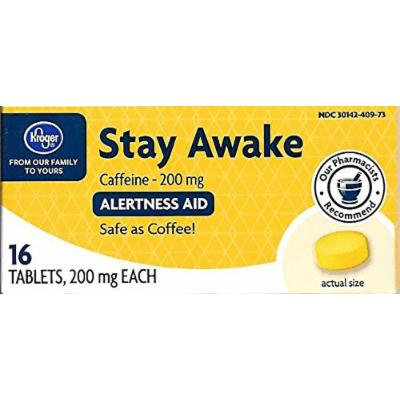 Kroger Stay Awake, 200 mg, 16 tablets, Compares to Maximum Strength Vivarin