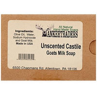 Yankee Traders Handmade Soap, Unscented Castile, 4 Ounce