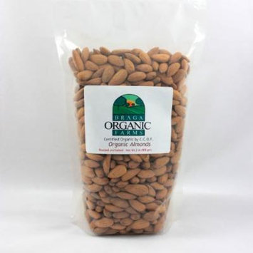 Braga Organic Farms Almonds, Roasted and Salted, 2 Pound