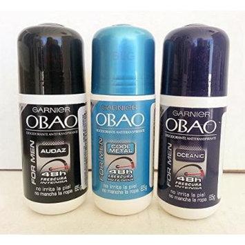 Garnier OBAO Deodorant Antiperspirant Combo, Oceanic, Audaz, Cool Metal (3 Pack).. HPVagr