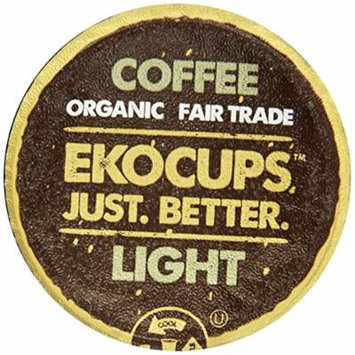 EKOCUPS Artisan Organic Decaf Coffee, Light Roast in, Recyclable Single Serve Cups for Keurig K-cup Brewers, 10 count