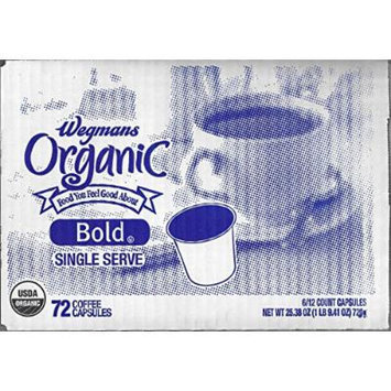 Wegmans Single Serve Coffee Capsules Case of 72 (Organic)